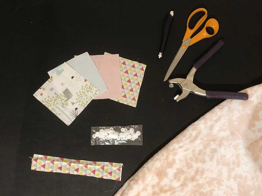 doudou patchwork materiel