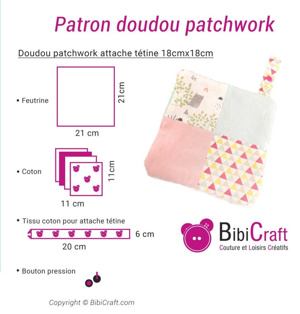 doudou patchwork patron tuto