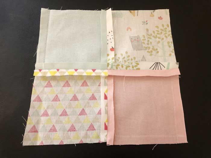 etape 05 doudou patchwork couture