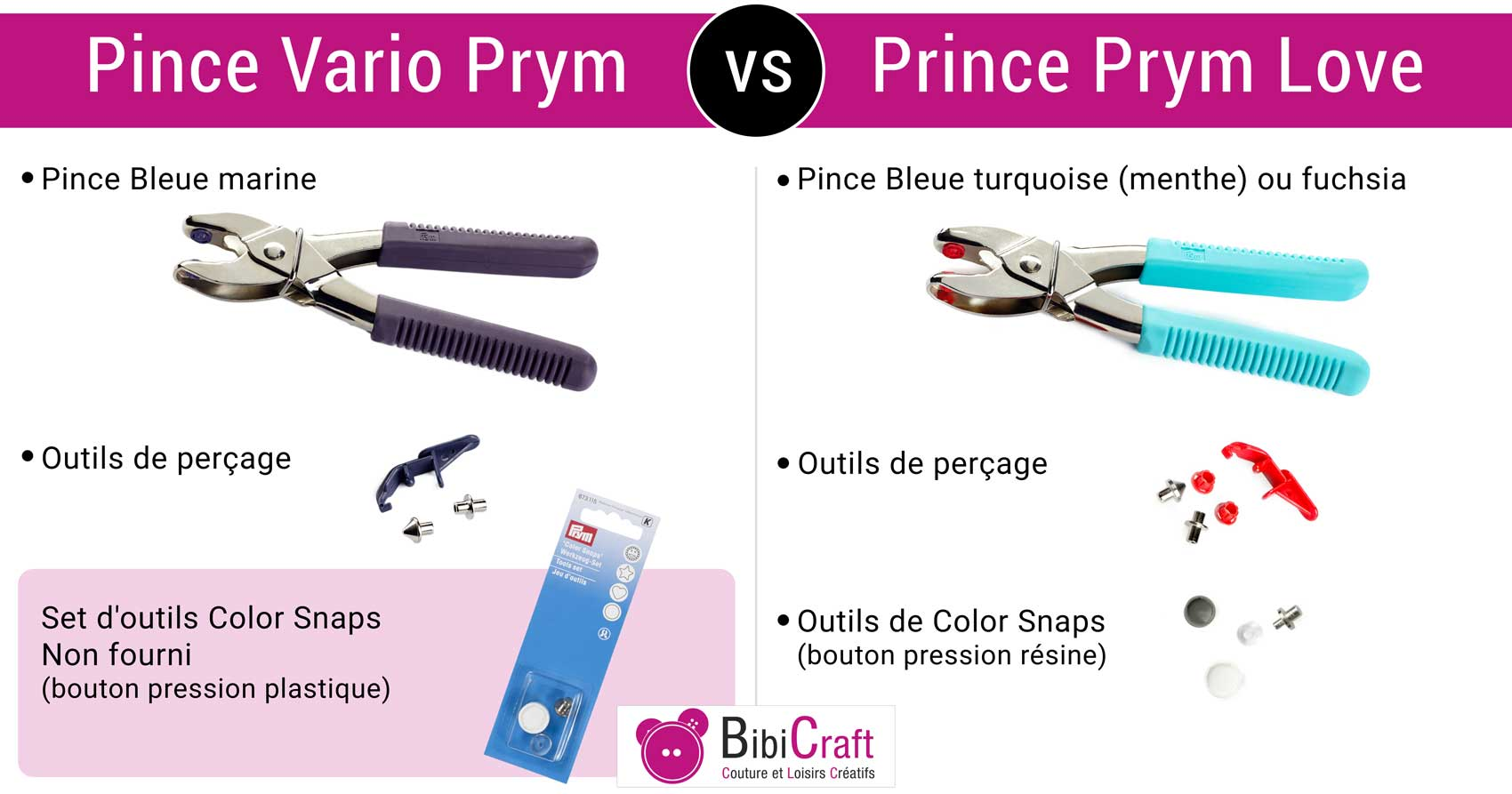 Pince Vario Prym ou Pince Prym Love ?