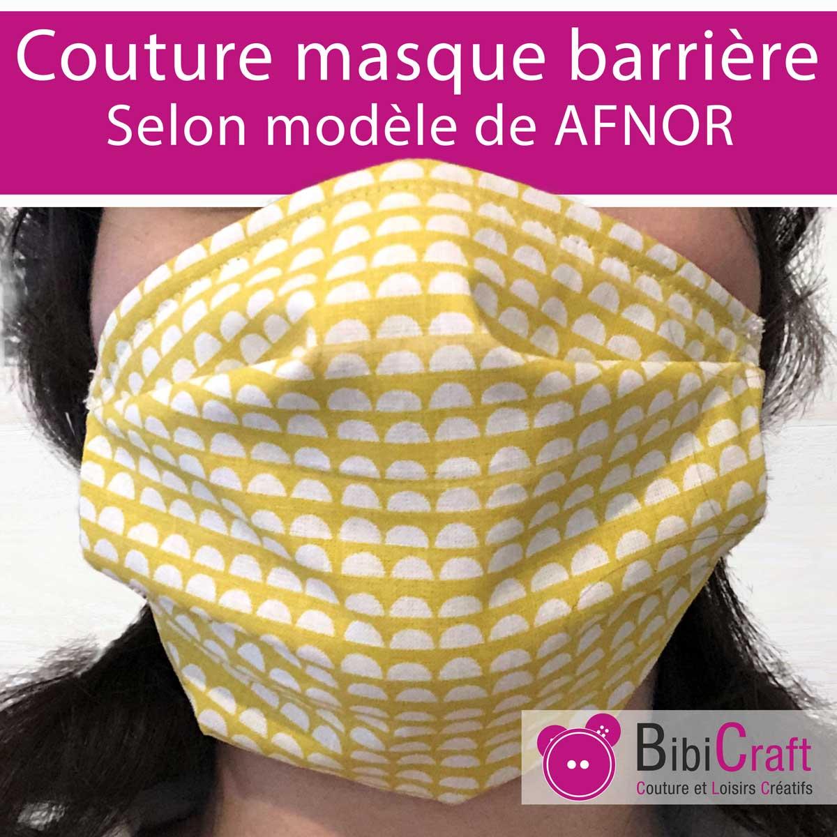 Tuto masque en tissu de protection AFNOR